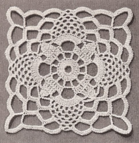 Amazon Vintage Crochet Pattern To Make Tablecloth Motif Block