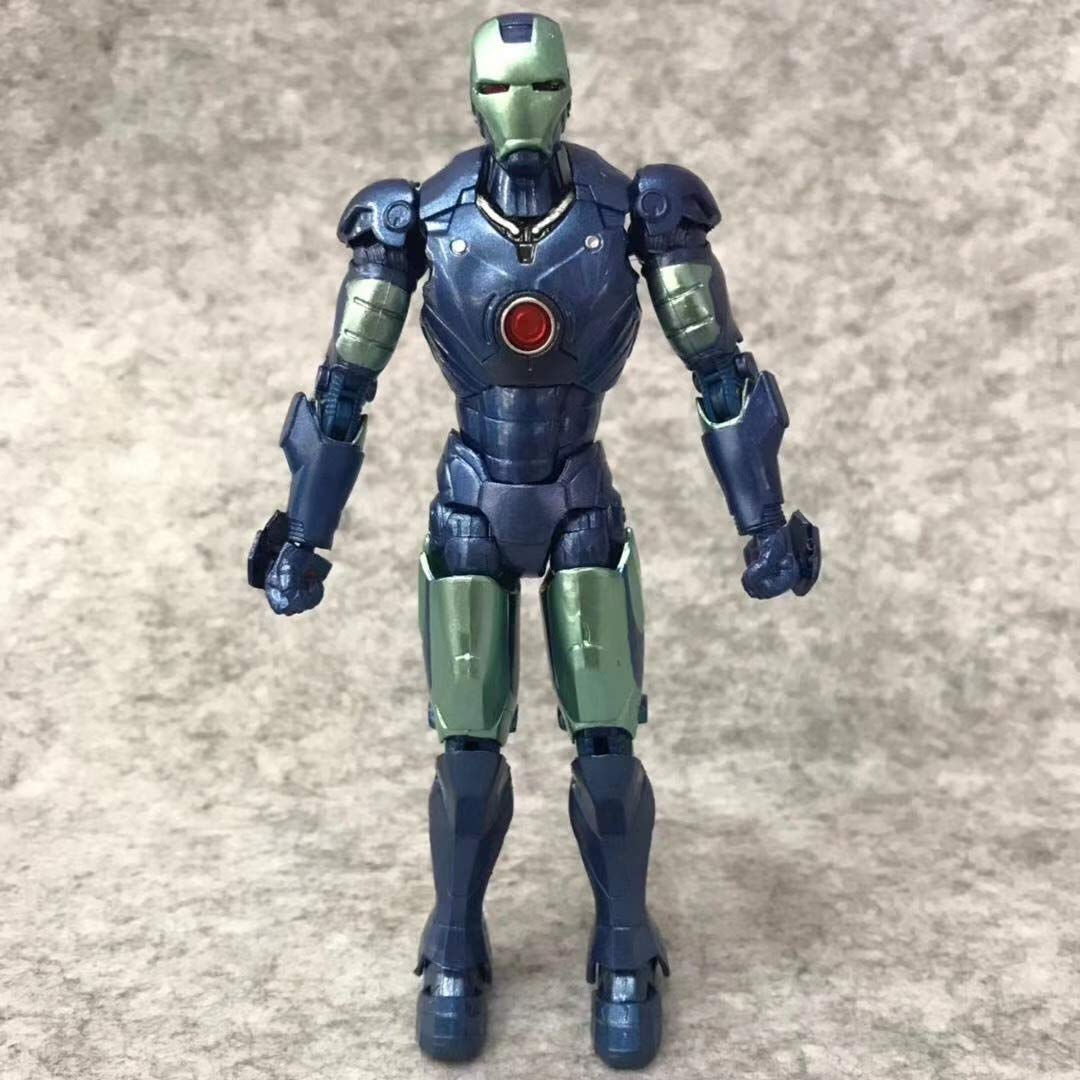 WYZBD Spielzeugmodell Avengers Iron Man Blau Actionfigur Mobilitätsmodell Hand