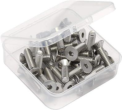 1//4-20 x 1-1//4 Size Flat Head Socket Cap Screws Metric Hardware Fastener Kit Allen Drive Stainless Steel Set of 50
