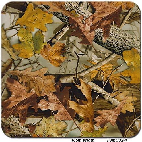 高品質 ハイドログラフィックフィルム、0.5メートル幅 - 水転写印刷ハイドロディップフィルム - 枯れ木の葉のパターン - マルチカラーオプション (Color : TSMC32-4, Size : 0.5mx6m)