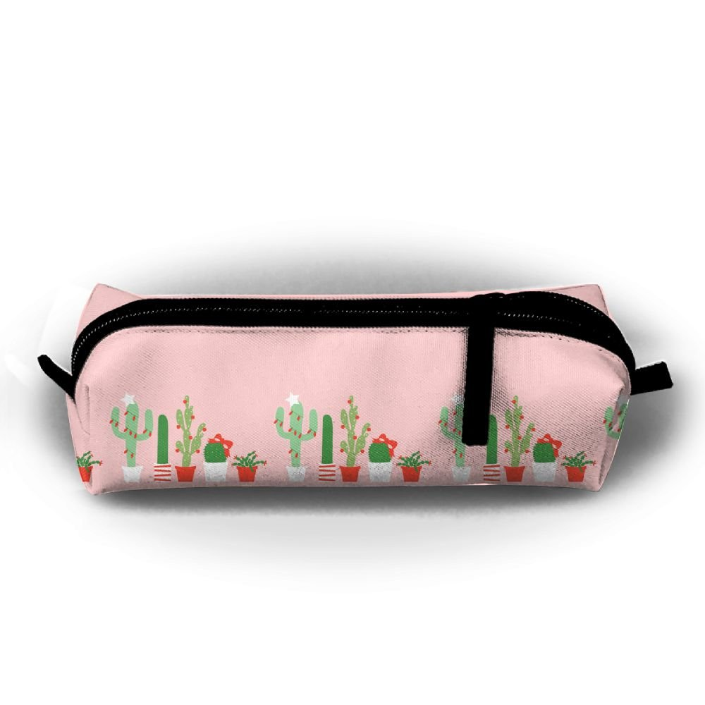 on sale christmas desert cactus pot pen pencil stationery bag makeup