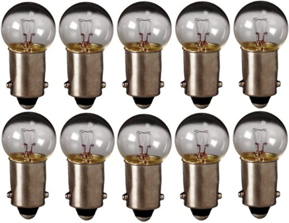 Eiko - 55 Mini Indicator Lamp - 7 Volt - 0.41 Amp - G4.5 Bulb - Miniature Bayonet Base - 10 Pack