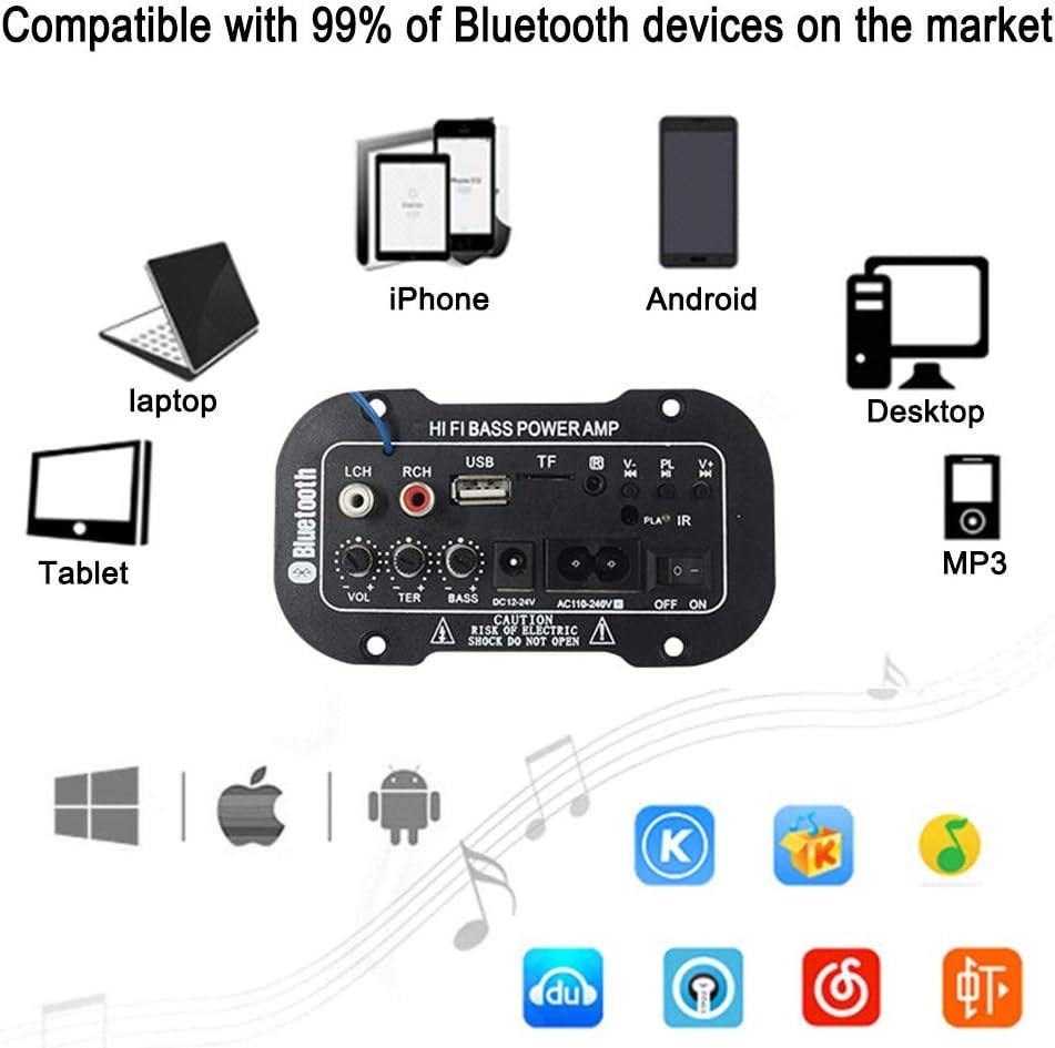 amplificatore audio per auto mini telecomando 2.1 con due cavi di ...