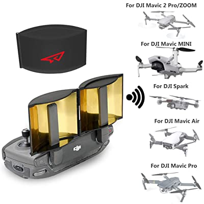 RCGEEK Drone Range Extender Signal Booster Antenna Foldable Compatible with DJI Mavic Mini Mavic Pro Mavic 2 Pro/Zoom Mavic Air DJI Spark Remote Controller, 1 Piece: Toys & Games