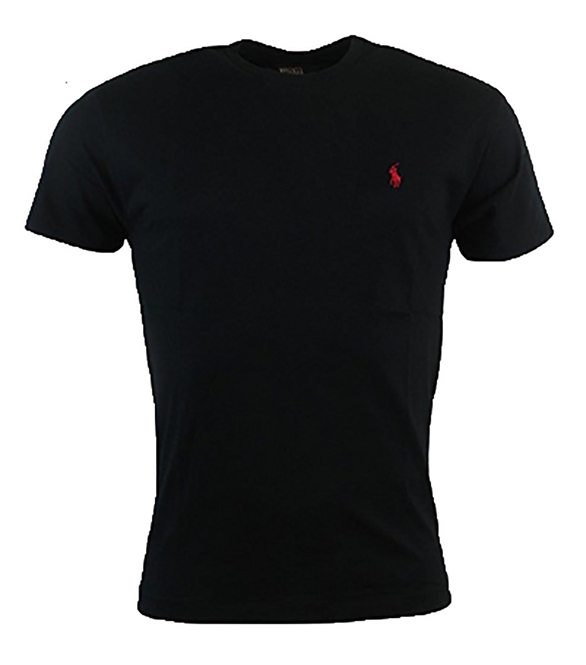 Polo Ralph Lauren Men's Classic Fit T-Shirt (Large, RL Black)