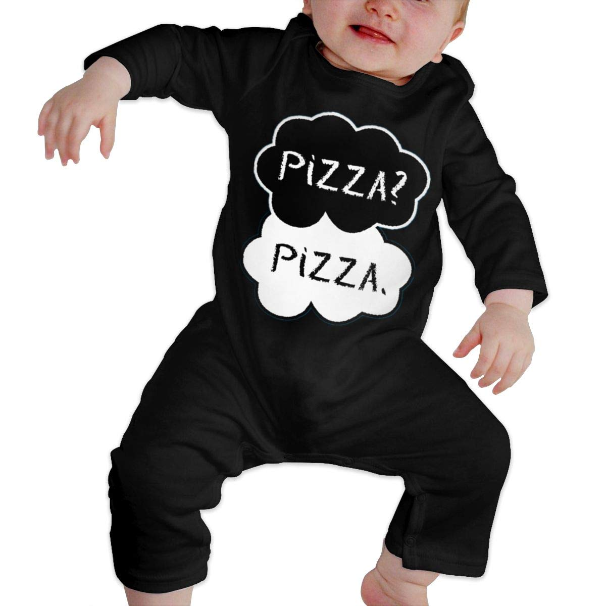 Fasenix Pizza Newborn Baby Boy Girl Romper Jumpsuit Long Sleeve Bodysuit Overalls Outfits Clothes