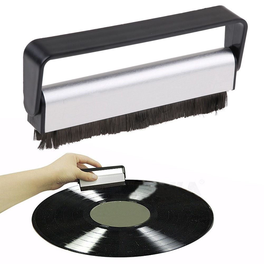 Carbon Fiber Anti-Static Record Cleaning Brush Cleaner Audio Stylus Dust Remover Cathery