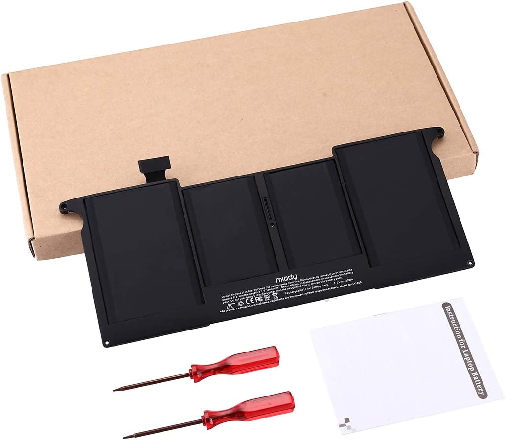 A1406 A1495 Replacement New Laptop Battery Compatible with MacBook Air 11 Inch A1370(Mid 2011) A1465(Mid 2012 Mid 2013 Early 2014 Early 2015) MC968 MC969 MD223 MD224(Not for A1370 2010)