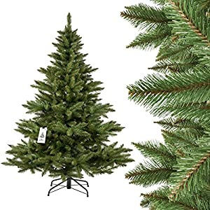 Weihnachtsbaum Echt Oder Künstlich.Fairytrees Weihnachtsbaum Künstlich Nordmanntanne Künstlicher
