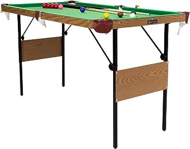 Charles Bentley Mesa Billar/Snooker Verde 137CM Y Bolas DE Billar Y Snooker Amarillas Interiores: Amazon.es: Deportes y aire libre
