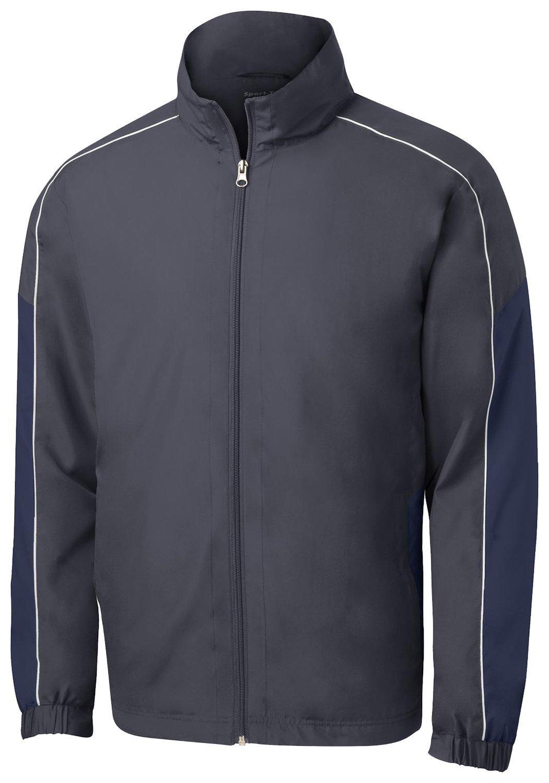Sport Tek Mens Lightweight Colorblock Wind Jacket