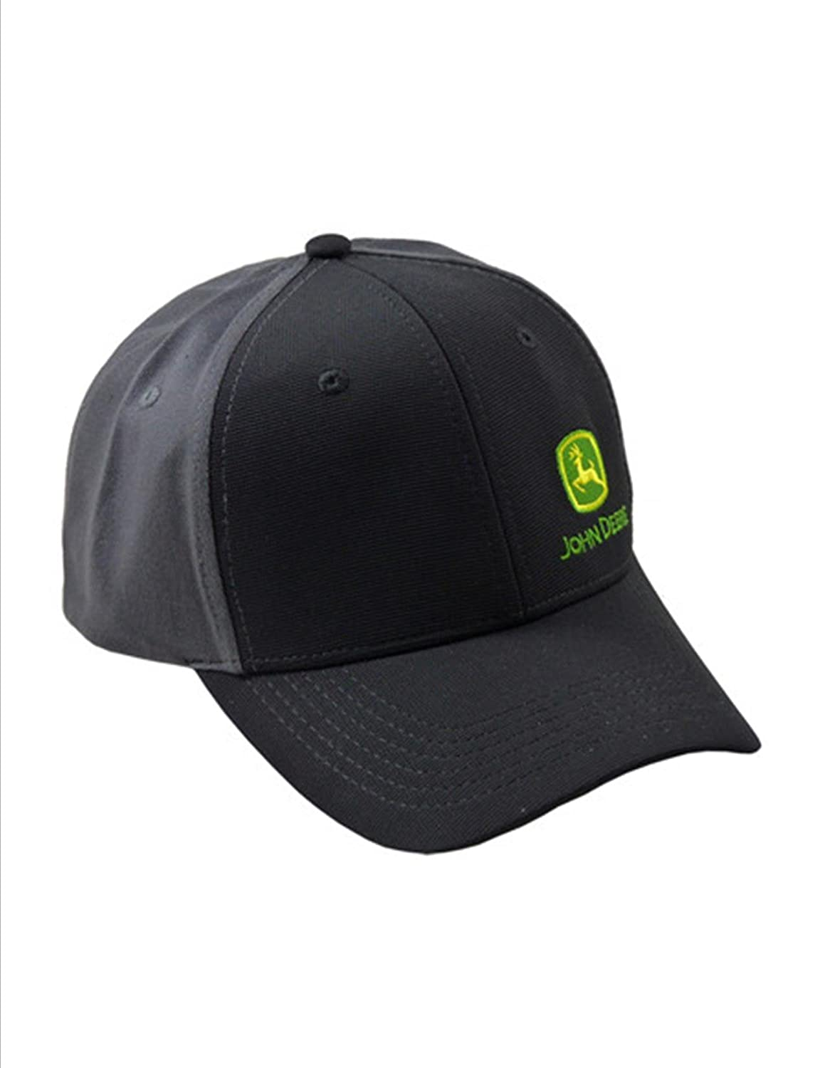 John Deere Black Synthetic Ottoman Cap Gray Twill Back Side Logo Cap Hat at  Amazon Men s Clothing store  5641c943a44