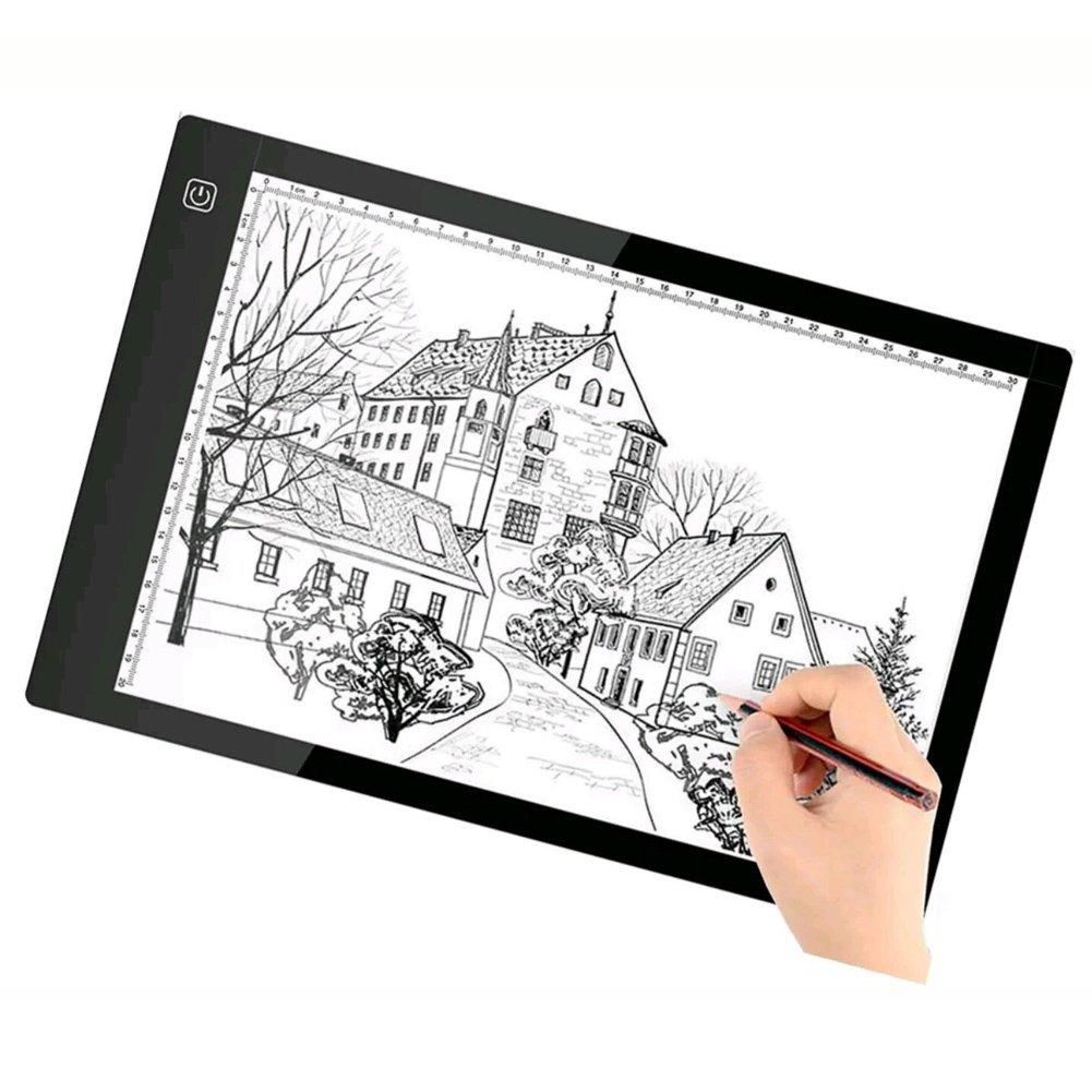Scheda di disegno LED Light Box A4 - Scheda di tracciamento BESTGIFT USB Power Tavolo per tablet con tavoletta digitale ultrasottile per artisti BESTT