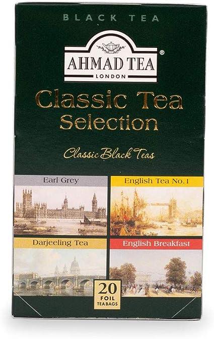 Image ofEnglish Teas,Classic Tea Selection - Tagged and Aluminium Foil Enveloped Teabag Assortment in Printed Carton - 398