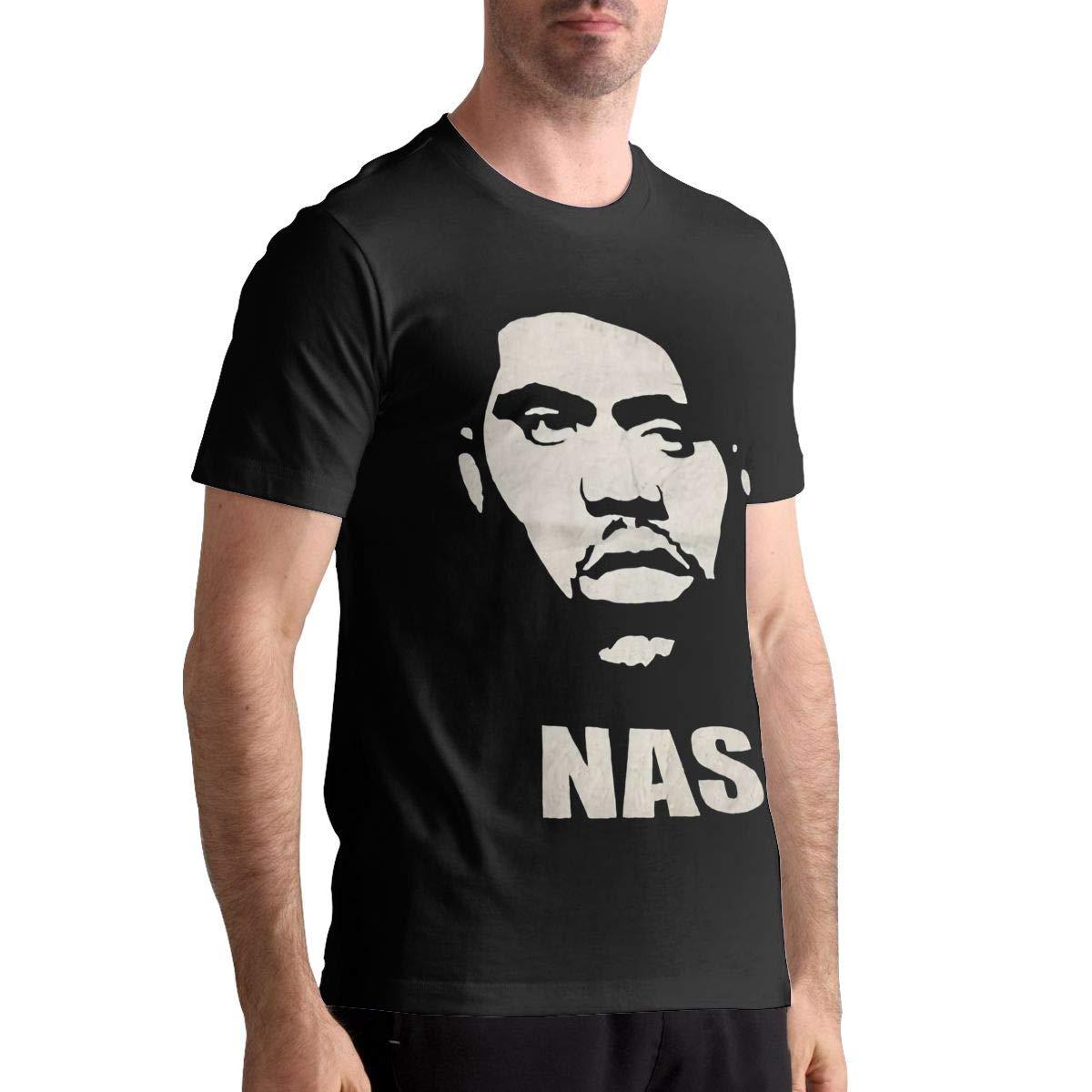NAS Shirt Mens Classic Short Sleeve Tees Shirts Tops