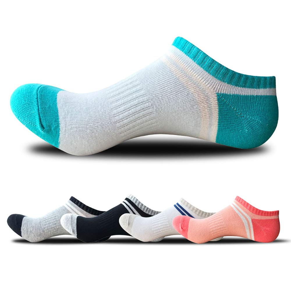 FEPITO 8 Pairs Women Casual Low Cut Ankle Socks Breathable Liner Short Crew Socks for Running Fitness Outdoor Sports