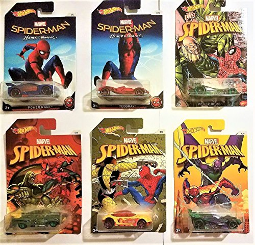 2017 Hot Wheels ~ Marvel Spider-Man Homecoming Walmart Exclu