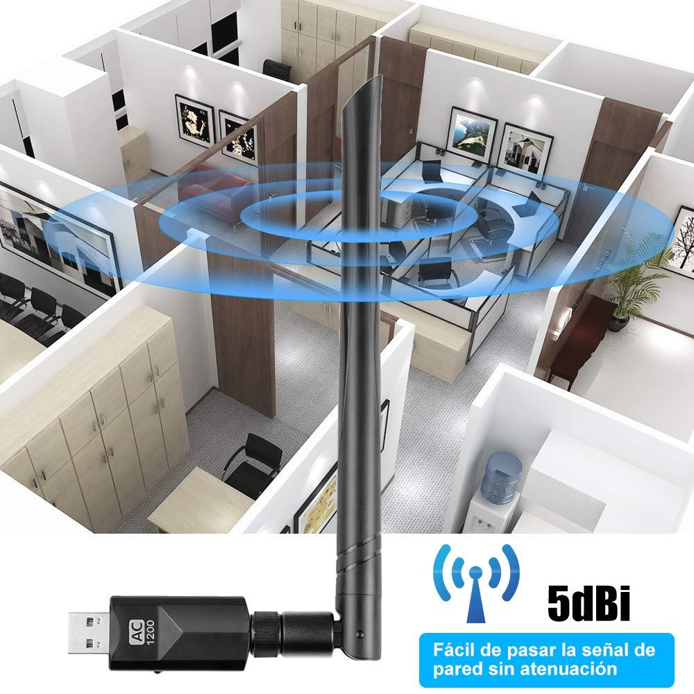 Vasco WiFi Antena USB Adaptador AC600Mpbs WiFi Dongle 5dBi Driver ...