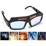 1 Pair Black Solar Auto Darkening Welding Goggle Safety Protective Welding Glasses Mask Helmet, Eyes Goggles Mask Anti…