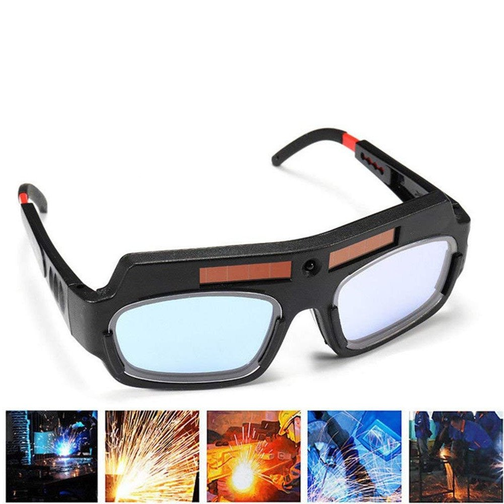 1 Pair Black Solar Auto Darkening Welding Goggle Safety Protective Welding Glasses Mask Helmet, Eyes Goggles Mask Anti-Flog Anti-glare Goggles by Yarr Store