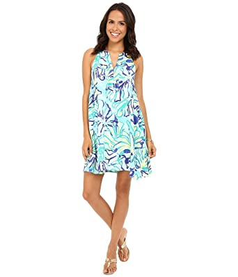 703523f339965e Lilly Pulitzer Women's Achelle Dress Pool Blue Stay Cool Dress XL at ...