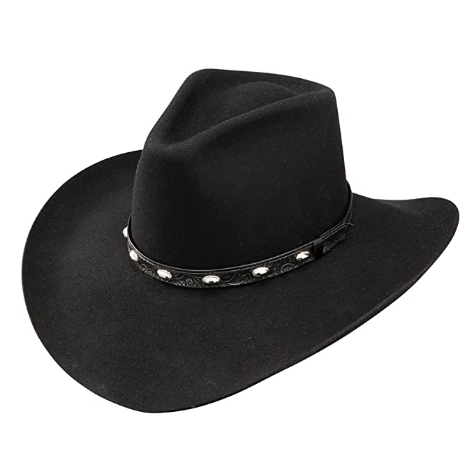 68d8011d Stetson and Dobbs SWBKSH-1540 Men's Buck Shot Cowboy Hat, Black - 7 ...