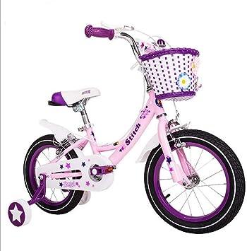 Xiaoping Bicicleta 14-16-18 Pulgadas Transporte de niña de Color Rosa bebé Bicicleta niña de 4-8 años de los niños: Amazon.es: Deportes y aire libre