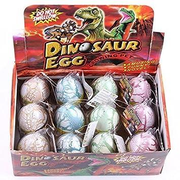 QLS HXSS White Crack Color Dinosaur Dragon Hatch-Grow Huevos Tamaño Grande Grande Paquete de 12 Piezas