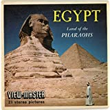 Classic ViewMaster - Egypt Land of the Pharaohs - 3Reel Packet - 21 3D Images from the 1950's