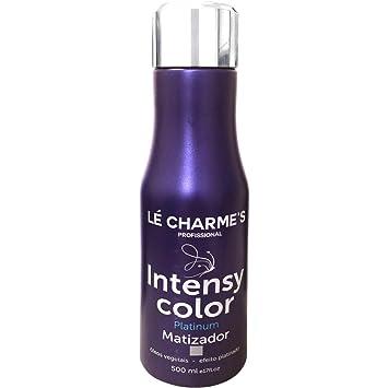 b4c9eb106 Amazon.com : Linha Matizacao Le Charmes Cosmeticos - Intensy Color Platinum  500 Ml - (Le Charmes Cosmeticos Brassiness Control Collection - Intensy  Color ...