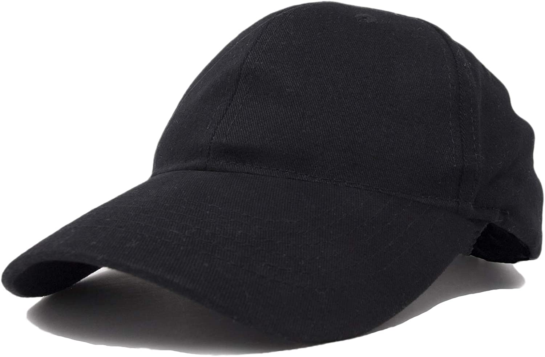 DALIX Unisex Fine Brushed Cotton Cap Adjustable Hat with 6 Panels - Structured