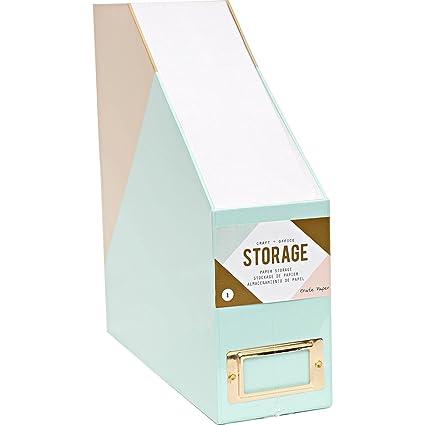 American Crafts 375799 Paper Storage Crate Paper Desktop Storage Paper Storage