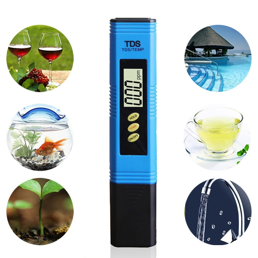 JUSTDOLIFE TDS Meter Drinking Water Tester Digital LCD Display Temperature Test Pen for Water Quality by JUSTDOLIFE