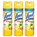 Lysol Disinfectant Spray, Lemon Breeze, 19 Ounce (Pack of 3)