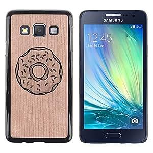 - / Donut Cartoon Tv Show Sweet - - Funda Delgada Cubierta Case Cover de Madera / FOR Samsung Galaxy A3 a3000 / Jordan Colourful Shop/