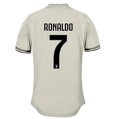 8644267d87d terfgrt Juventus Ronaldo   7 Soccer Jersey 2018-2019 Away Men s Jersey  White(S