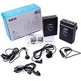 Boya BY-WM52,4gHz inalámbrico Lavalier micrófono Audio Grabadora para Canon/Nikon/Sony DSLR Cámara-Negro