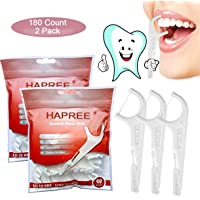 Hapree 180 Count Dental Floss Picks, multifunción incluye