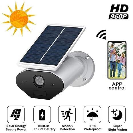 NBZH Cámara de Seguridad IP Solar HD1080P, cableado Gratuito ...