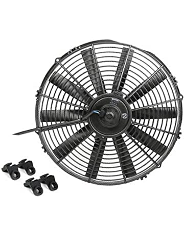 Ventilateur de refroidissement Madlife Garage pour moteur de radiateur /électrique universel aux lames incurv/ées extra-plates 17,8/cm 12/V et 80/W