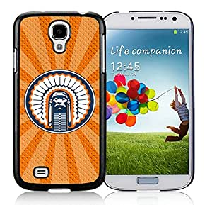 Ncaa Big Ten Conference Football Illinois Fighting Illini 19 Black Samsung Galaxy S4 Cellphone Case Beautiful and Retro Design