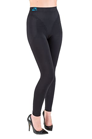 f84d33bf18a77 Amazon.com: Anti Cellulite Slimming Leggings (Fuseaux) + Silver: Clothing