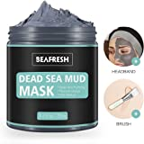 Naturals Dead Sea Mud Mask - Headband & Brush included for Face and Body Cleansing Relaxing Detox Treatment Reduce Pores, Purifying Face Mask for Acne, Blackheads, and Oily Skin