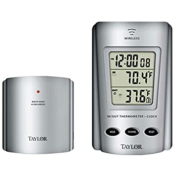 Amazon.com : Taylor Thermometer Indoor/Outdoor Requires 2 Aaa ...