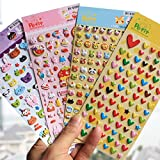 10 Sheets/Lot Diy Cute Lovely 3D Bubble Kids Stickers Kawaii Animal Decorative Sticker Toy Gift For Album Diary Scrapbooking^.