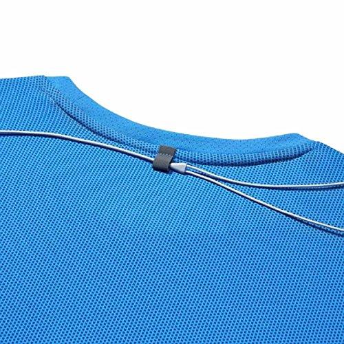 Femme Manches Longues photo clair Blanc à Bleu Fit Contour T Nike Shirt Dri SA0XqX
