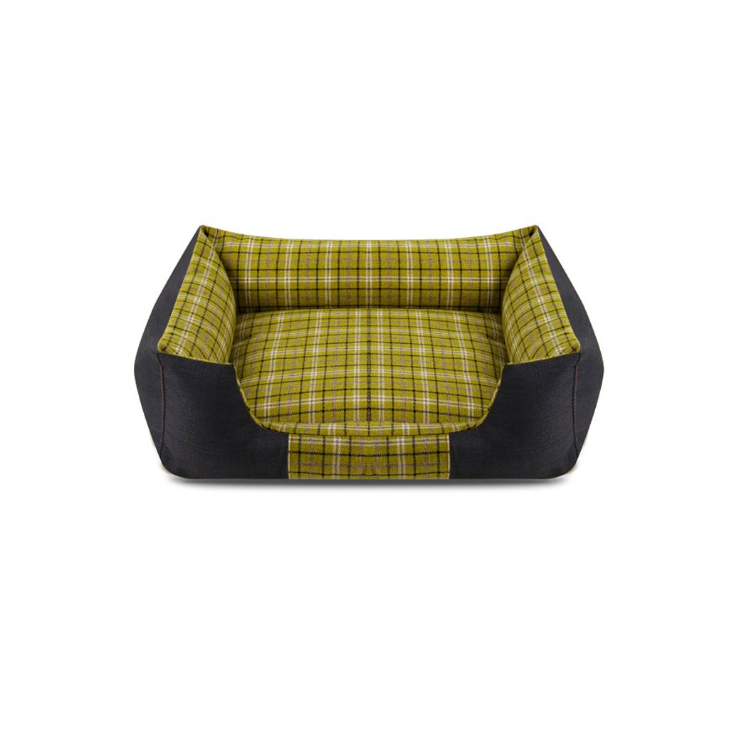 Olive green 7258cm Olive green 7258cm TangMengYun Dog And Cat Can Wash Pet Bed Mattress Comfortable Summer Olive Green (color   Olive green, Size   72  58cm)