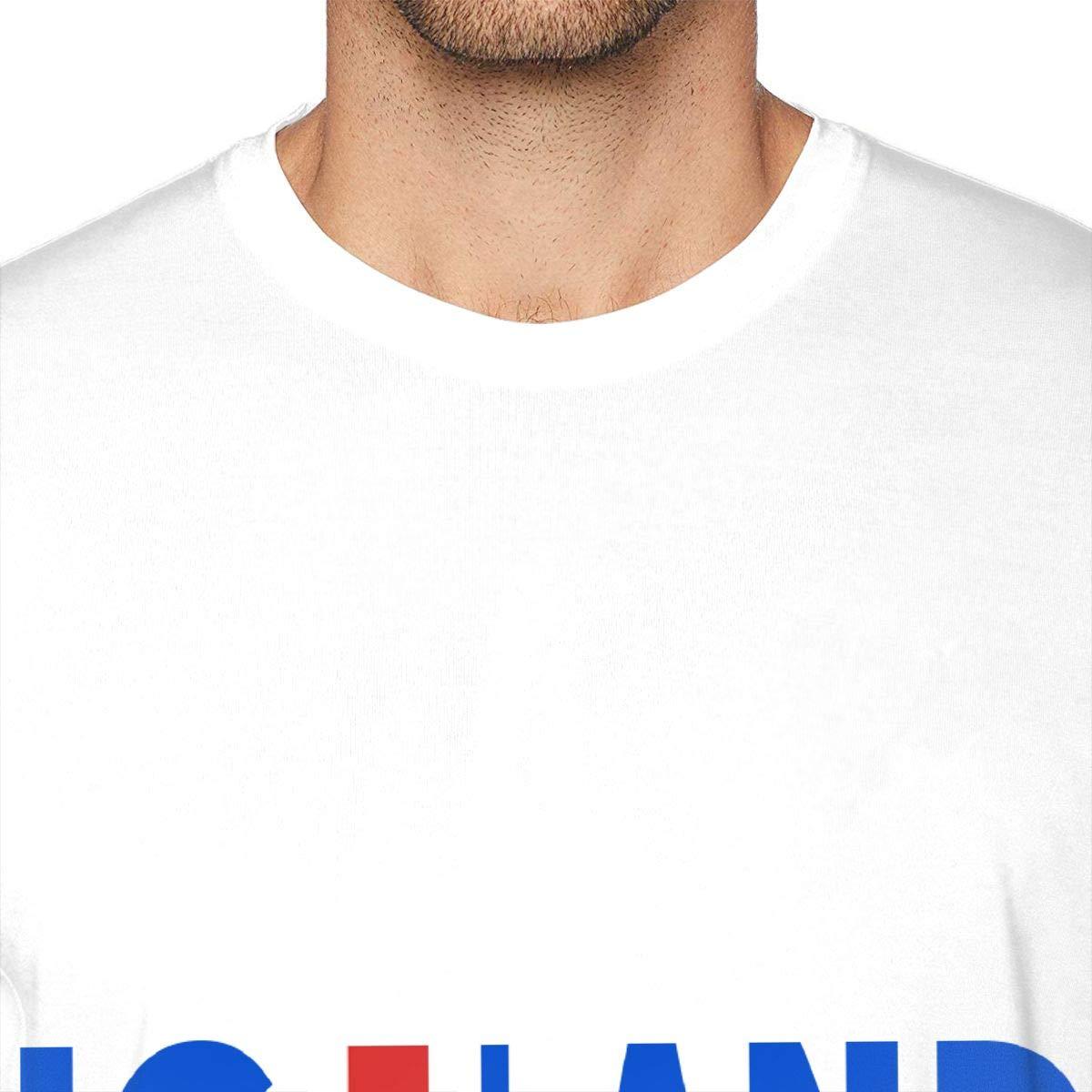 SUMT4men Iceland Mens Crew Neck Short Sleeve T-Shirt Casual Shirt for Men