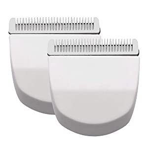 2PCS White Professional Peanut Clipper/Trimmer Snap On Replacement Blades #2068-300-Fits Compatible with Professional Wahl Peanut Clipper