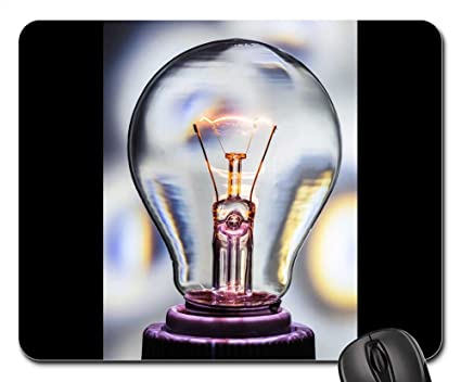 Amazon com : Mouse Pads - Light Bulb at Burn Light Glow Lamp